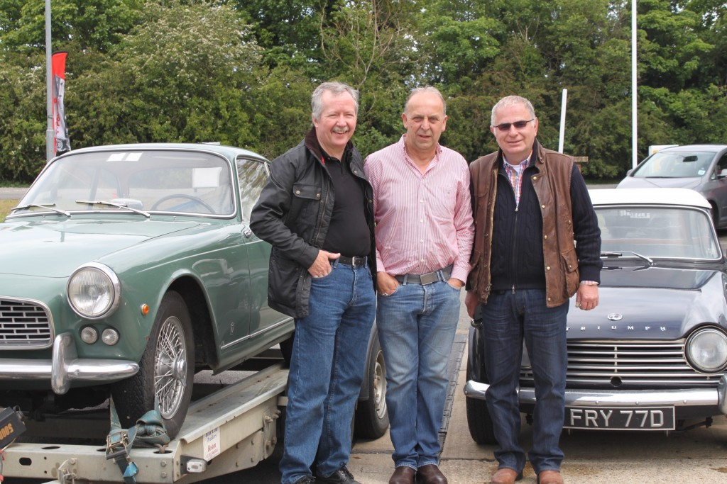 Me, Graham Andrews and Paul Harvey setting off from the UK. Photo by Patricia Sinnott